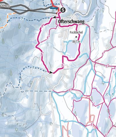 Karte / Winterwandern Hochwiesweg Runde - Ofterschwang