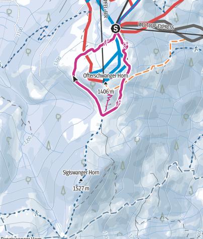 Karte / Winter-Spazierweg ums Ofterschwanger Horn