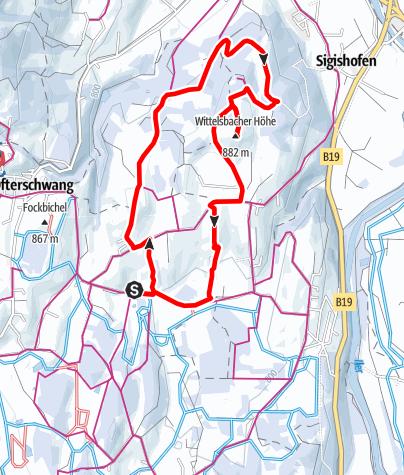 Karte / Winterwanderung zur Wittelsbacher Höhe bei Ofterschwang
