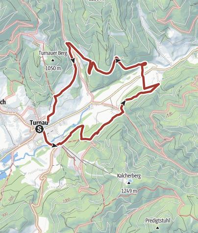 Karte / Jakobusweg in Turnau - Rundwanderung