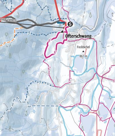 Karte / Kleine Hochwiesweg Runde - Winterwanderung in Ofterschwang