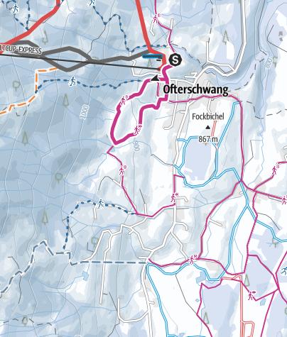 Map / Short Hochwiesweg trail - Winter hike in Ofterschwang