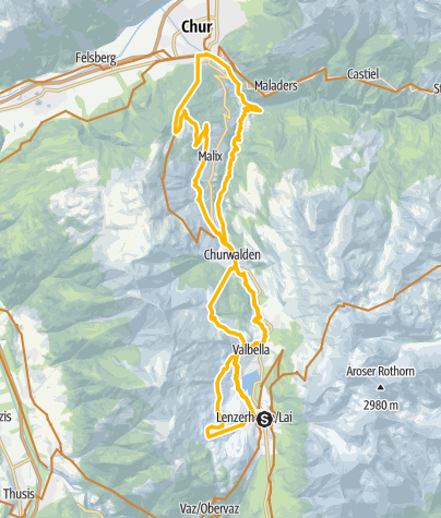 Map / Biketicket to RIDE (blue)