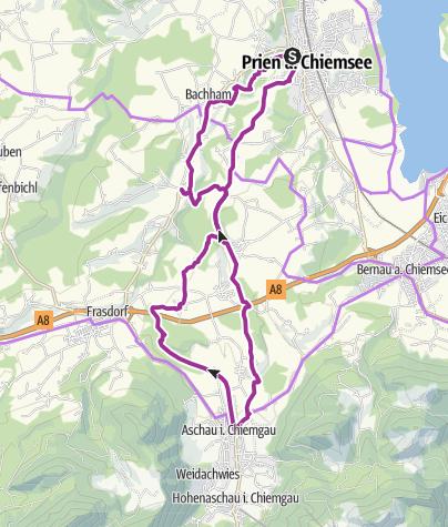 Prien Am Chiemsee Karte.Kulinarischer Radweg Von Prien Am Chiemsee Nach Aschau Und Zurück
