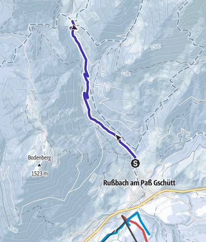 Karte / Zu den Rinnbergalmen