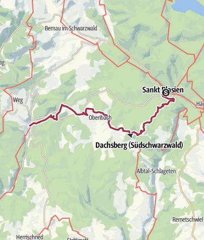 Karte / Schluchtensteig Etappe 5 von St. Blasien nach Todtmoos