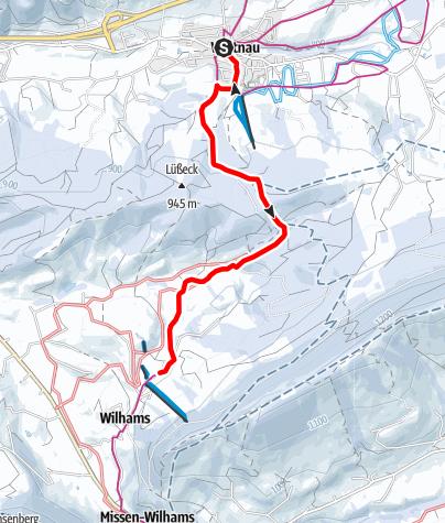 Karte / Winterwandern auf dem Carl-Hirnbeinweg