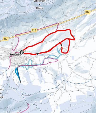 Karte / Winterwanderweg Weitnau-Engelhirsch