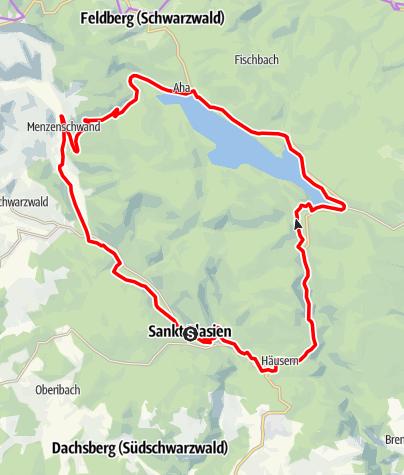 Map / St. Blasien: RouteWT 12 über Schluchsee und Menzenschwand