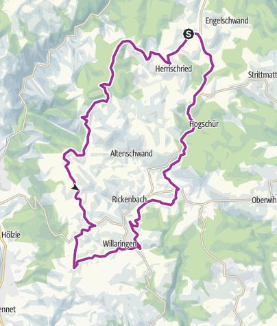 Karte / RouteWT 14 - Hotzenwald-Tour