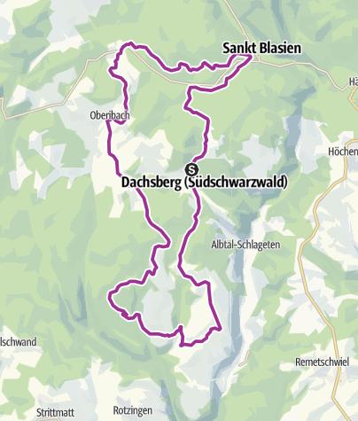 Karte / RouteWT 9b - Panorama-Lang-Route