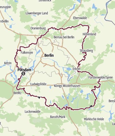 Karte / 66-Seen-Wanderung