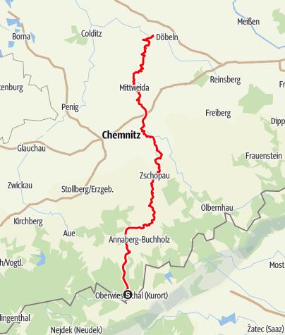 Karte / Zschopautal-Wanderweg