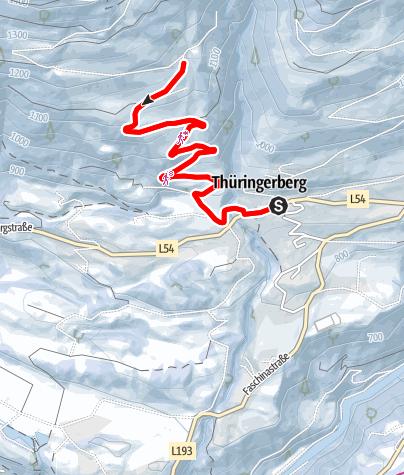 Karte / Winterwanderung Kapiescha | Thüringerberg