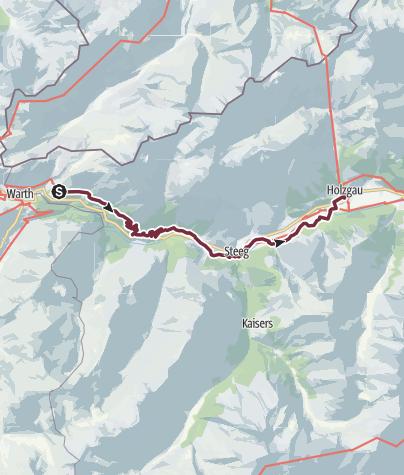 Lechweg Karte.Lechweg Etappe 3 Klassisch Lechleiten Bis Holzgau