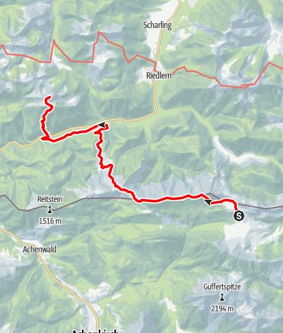 Karte / Übergang Guffert Hütte zur Tegernseer Hütte