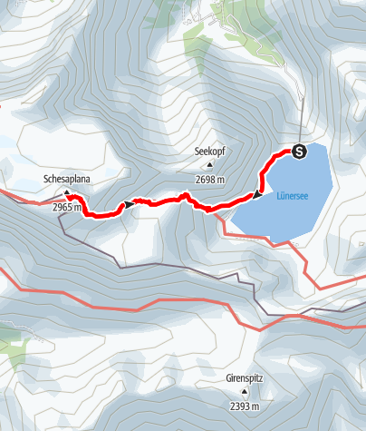 Karte / Gipfeltour auf die Schesaplana (höchster Berg im Rätikon)
