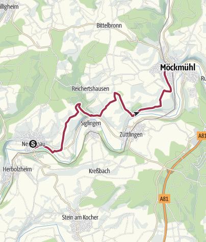Karte / Kulturwanderweg Jagst- 2. Etappe