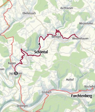 Karte / Kulturwanderweg Jagst- 4. Etappe