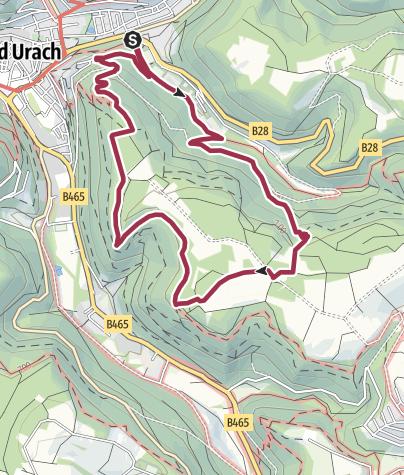 Karte / Hochbergsteig Bad Urach