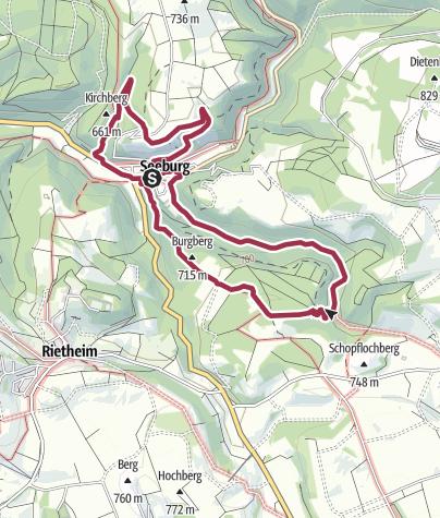 Karte / Seeburgsteig Bad Urach