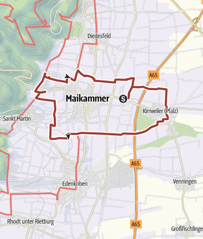 Karte / Maikammer-Erlebnisland/Pfälzer Mandelpfad (Rundweg)