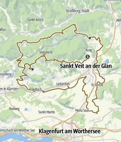 Karte / Mittelkärntner Tour