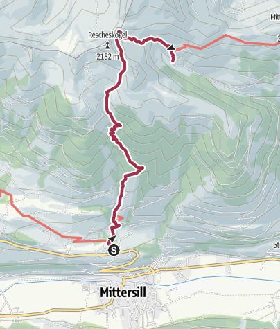 Map / Stuhlfelden: Sintersbachscharte Wegnr. 713, 702