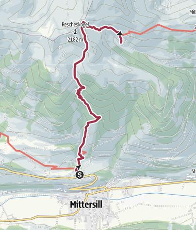Carte / Stuhlfelden: Sintersbachscharte Wegnr. 713, 702