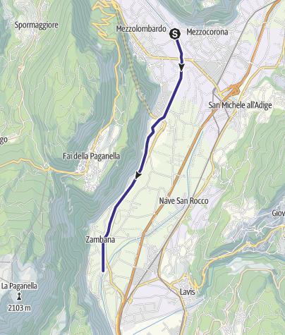 Karte / Torrente Noce D2