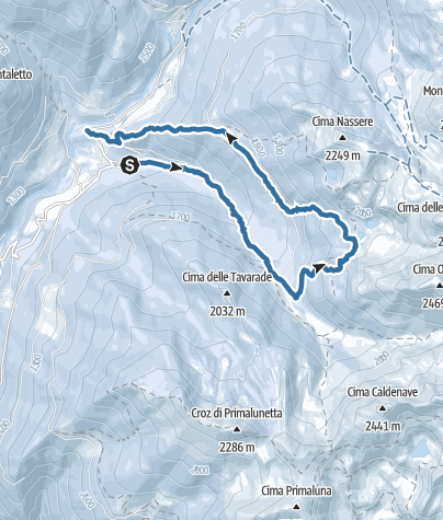 Cartina / Anello dell'Aia dela Pesa - Val Campelle – gruppo Lagorai Cima d'Asta