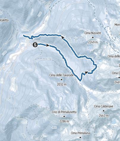 Map / Anello dell'Aia dela Pesa - Val Campelle