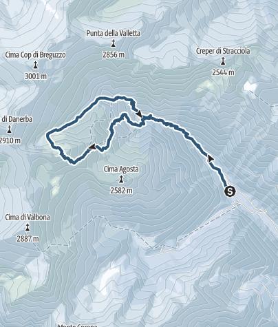 Cartina / Cima Creper Vac - Val di Breguzzo – gruppo dell'Adamello