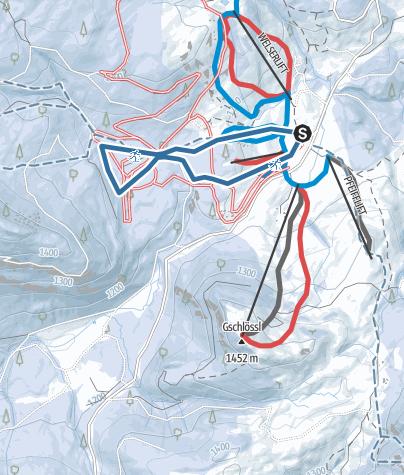 Karte / Schneeschuhwanderung auf der Postalm, Abtenau