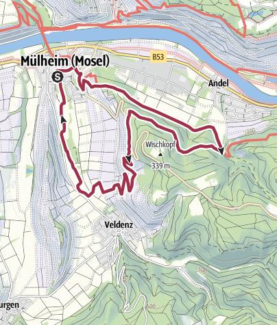 Karte / Panoramaweg in Mülheim an der Mosel