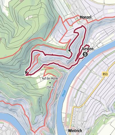 Karte / Ferienland-Wanderweg - Napoleonweg - Kesten