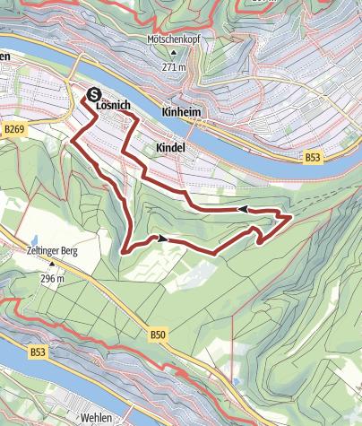 Karte / Der Natur auf der Spur - Themenweg Lösnich