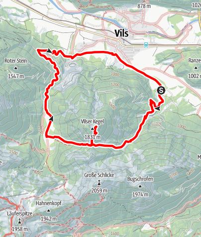 Karte /  Vilser Kegel (1844 m)