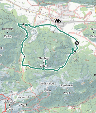 Cartina /  Vilser Kegel (1844 m)