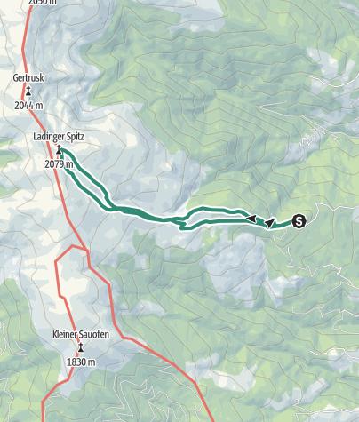 Karte / Gießlhütte - Ladingergraben - Ladinger Spitz