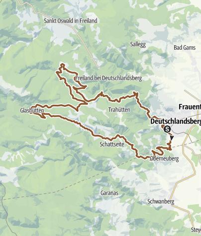 Karte / Koralm Mountainbike Tour