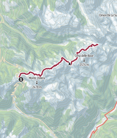 Karte / Wanderung zum Lago delle Stellune