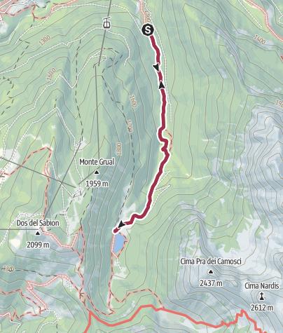 Map / Wanderung zum Lago di Valagola
