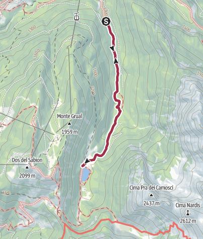 Karte / Wanderung zum Lago di Valagola