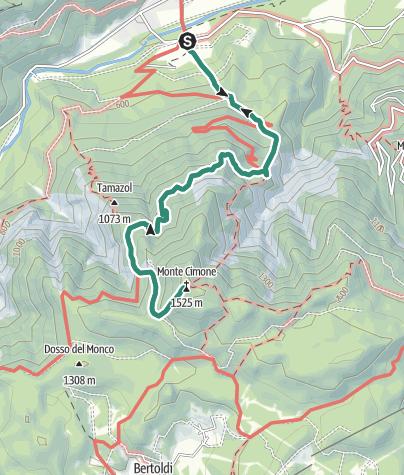 Map / Trek ring to Monte Cimone