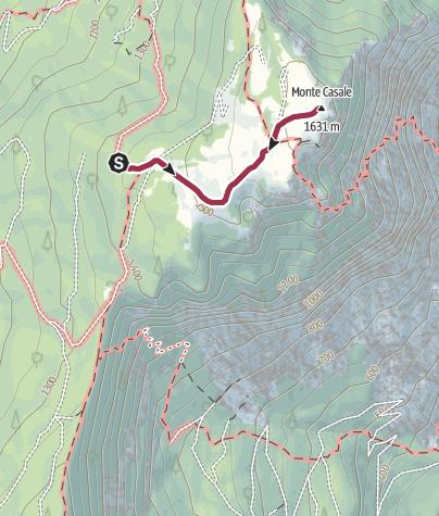 Cartina / Monte Casale da Comano