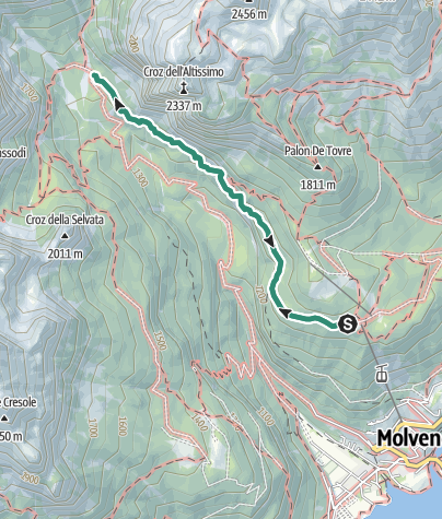 Karte / Rifugio Croz dell'Altissimo da Pradel