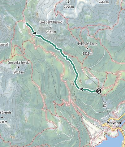 Map / Rifugio Croz dell'Altissimo da Pradel