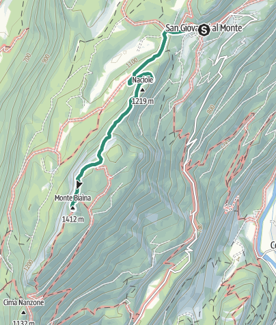 Map / Monte Biaina