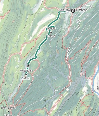 Karte / Monte Biaina